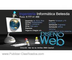 Soporte , mantención de notebook y desarrollo de sitios web