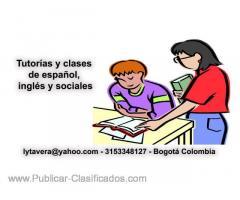 Tutorías y clases de español y sociales. A domicilio.