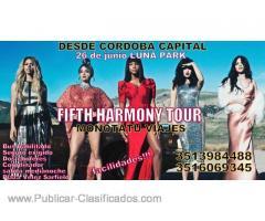 Tour Fifth Harmony desde Córdoba capital al Luna Park bus ida y vuelta