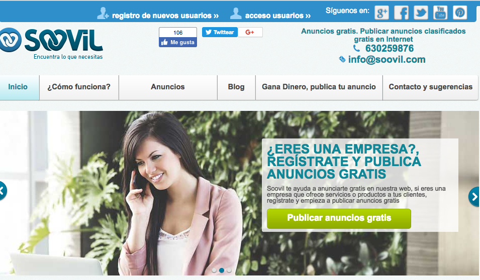 Soovil anuncios gratis publicar clasificados for Anuncios clasificados gratis