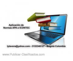 Revisión y Aplicación de normas APA e ICONTEC. Corrección de estilo. Talleres